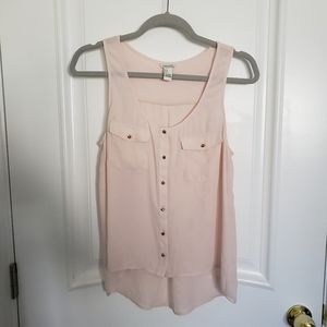 Forever 21 Pink Spike Button Tank